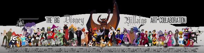 Big Disney Villains Art Collab by tavington
