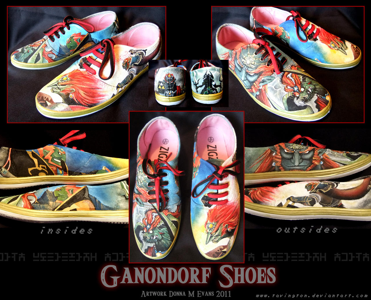 Ganondorf Custom Slick Kicks by tavington