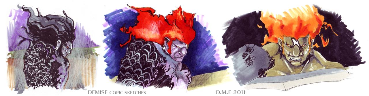 Demise -copic sketches- by tavington