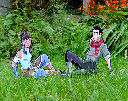 Korra and Mako paperchildren