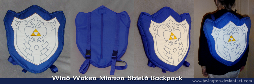Wind Waker Mirror Shield backpack by tavington