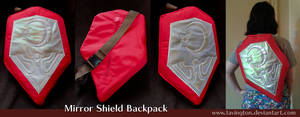 Ocarina of Time Mirror Shield backpack