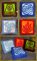 Avatar: Last Airbender pillows by tavington