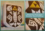 Phantom Hourglass Shield pillow