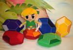 Zelda Rupee Plushies