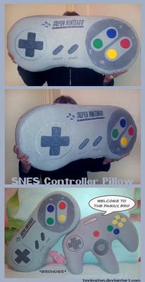 SNES Controller Pillow