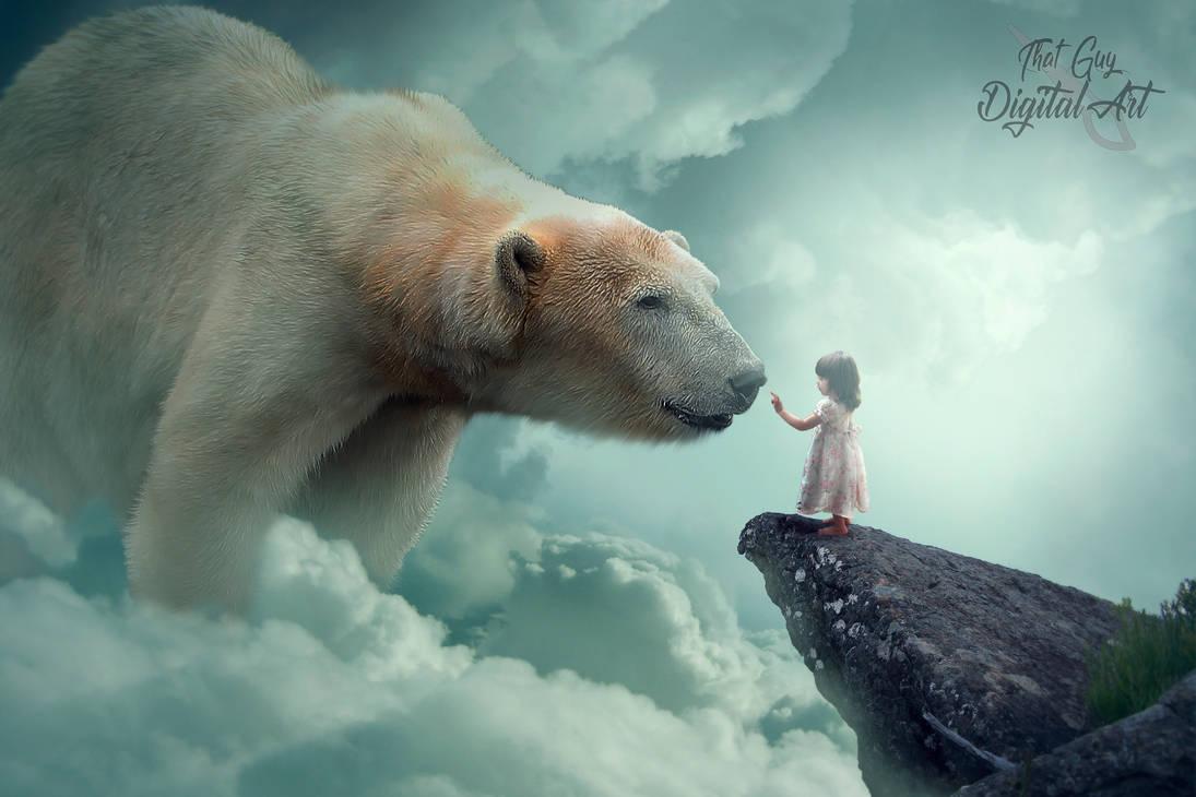Giant Polar Bear by ThatGuyDigitalArt