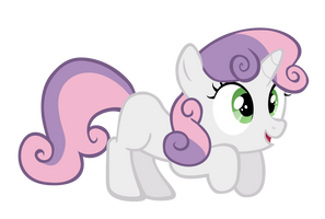 Excited Sweetie Belle Vector by M99moron