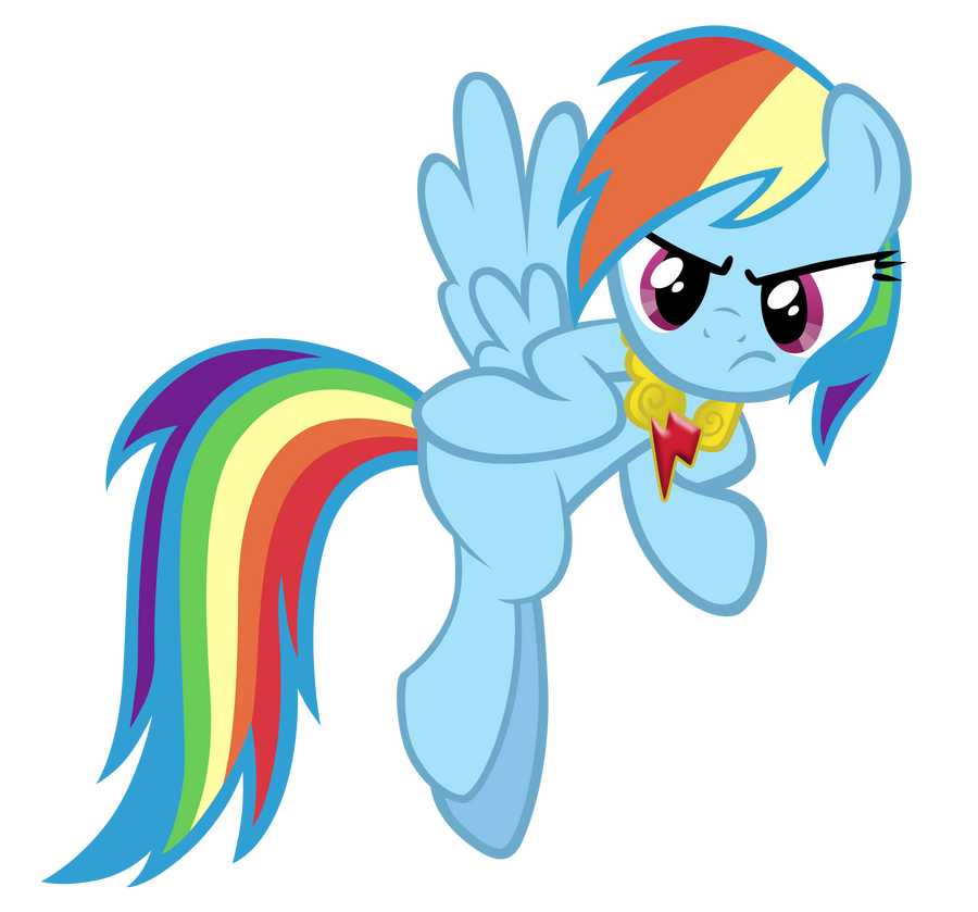 Rainbow Dash vous défie à Robot Unicorn Attack - Page 2 Angry_dash_vector_by_m99moron-d4dh2so