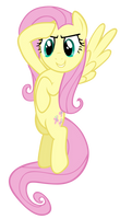 Salute Fluttershy Vector by M99moron