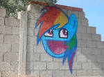 Rainbow Dash Awesome Face Spray Painting