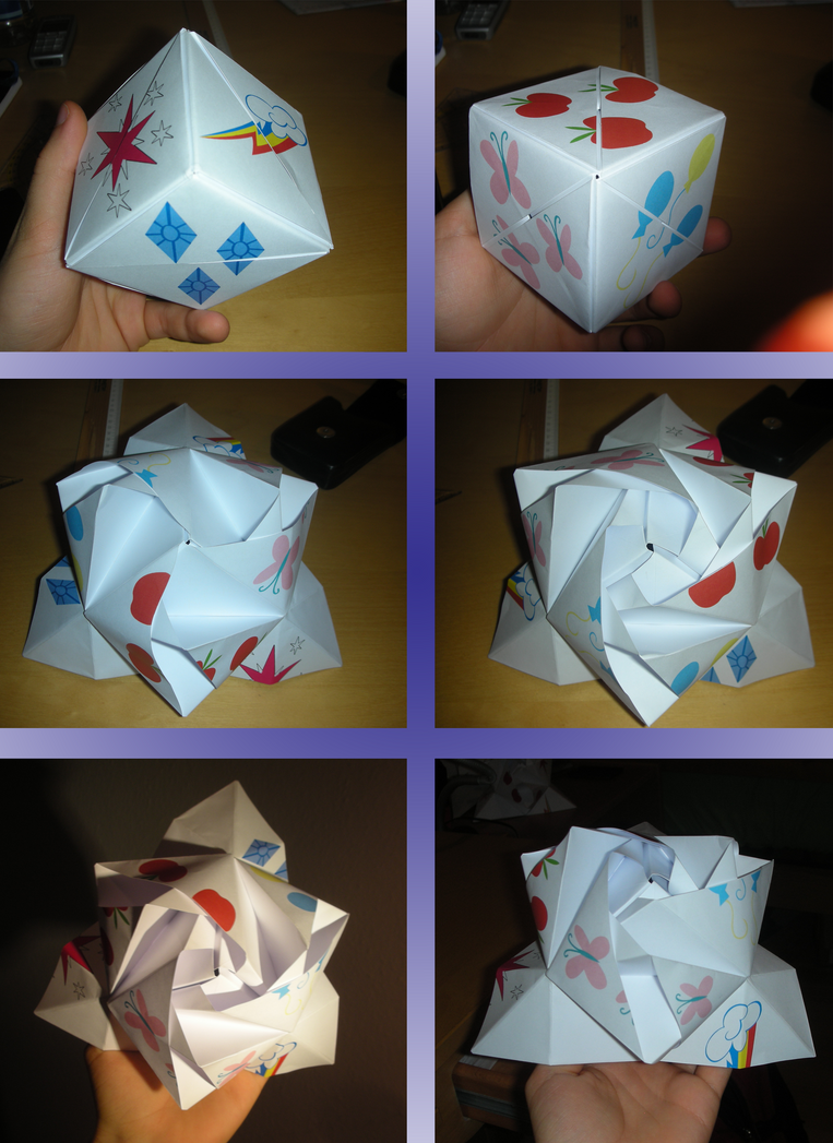 Origami Rose Cube With Cutie Marks By M99moron On Deviantart