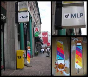 Pony Graffiti Streetlight