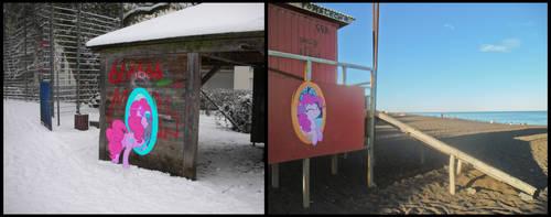 Pinkie Pie portals around the world by M99moron