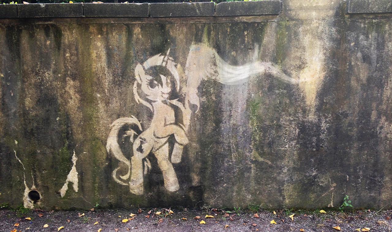 Colgate reverse graffito by M99moron