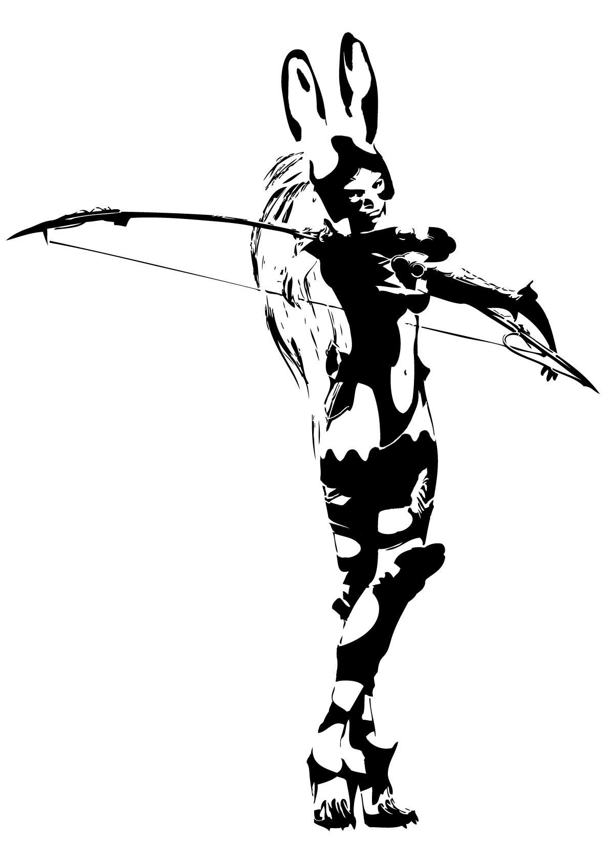 ffxii fran stencil by branbot on deviantart