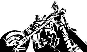 Cloud Strife Daytona Stencil by Branbot