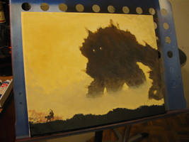 Shadow of the Colossus Paintin by Branbot