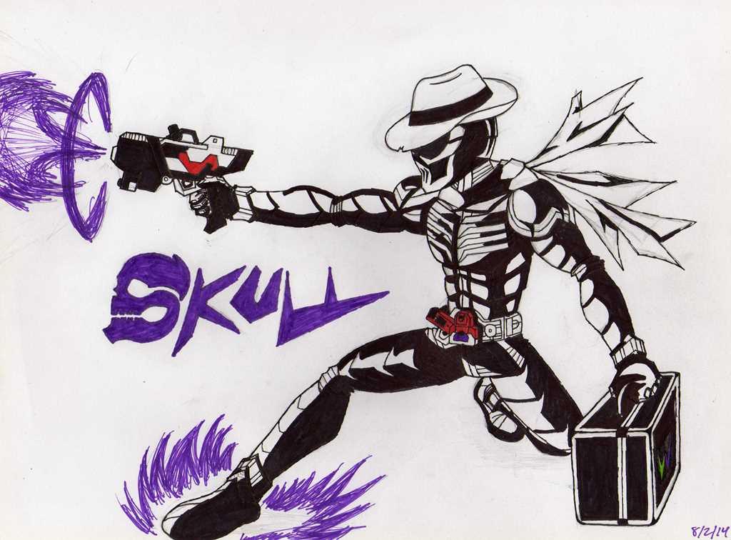 Kamen Rider Skull by blackspades10