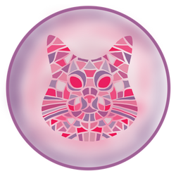 Mosaic cat - Three Colors Challange