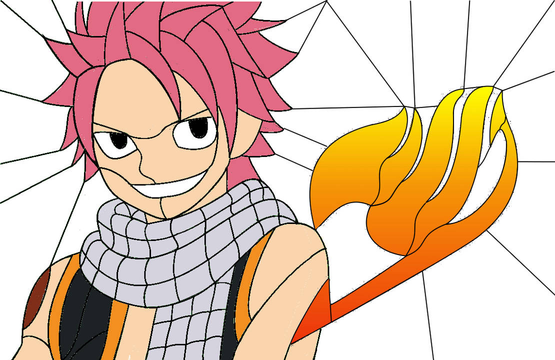 Stained Glass Pattern For Natsu From Fairy Tail By Cram6 On Deviantart