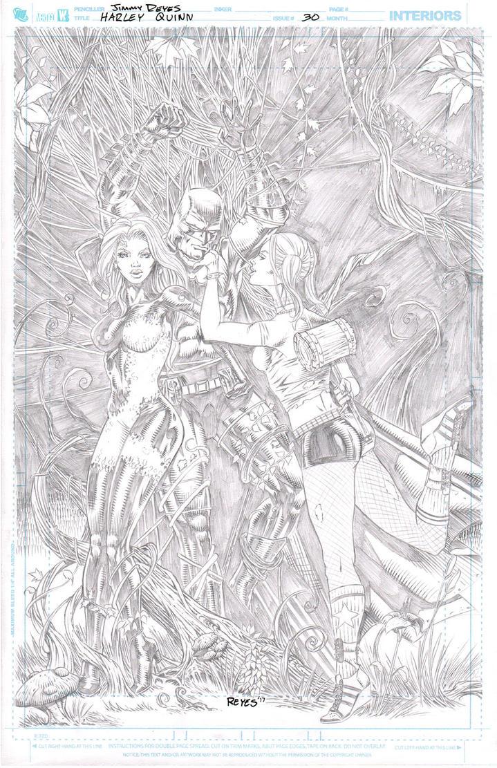 Harley Quinn Poison Ivy by JimmyReyes