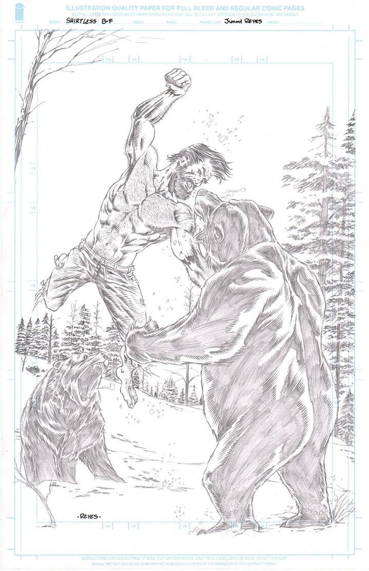 Shirtless Bear Fighter by JimmyReyes