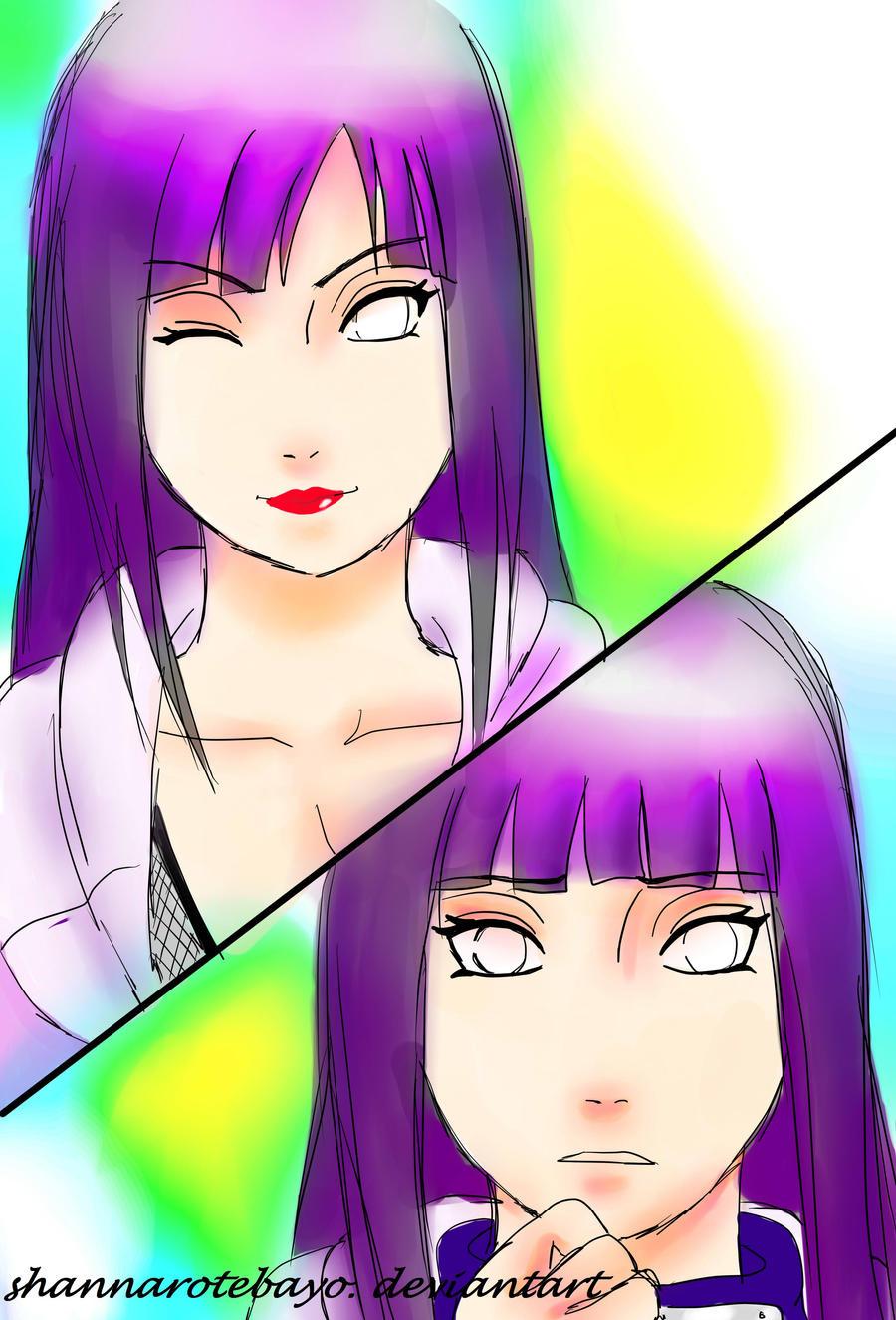 Coloured in version : RTN Hinata and Shy Hinata! by Heemana
