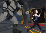 Halo Reach X Resident Evil 3 Remake Jill Valentine