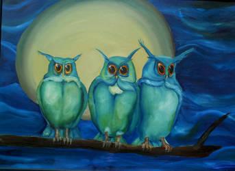 three owls by neomiad