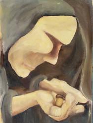 woman holding oak tree by neomiad