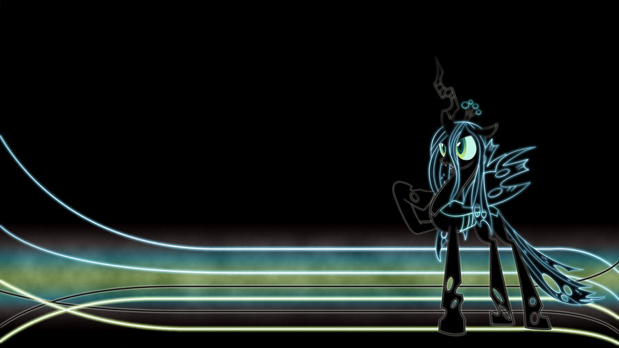 Queen Chrysalis Glow Wallpaper by Chaotic-Rarity