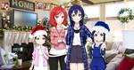 Merry Christmas 2020 - UmiMaki, Riko and Kanan by KyoFlameAshHylden