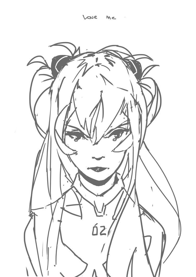 Asuka sketch by FacundoDiaz