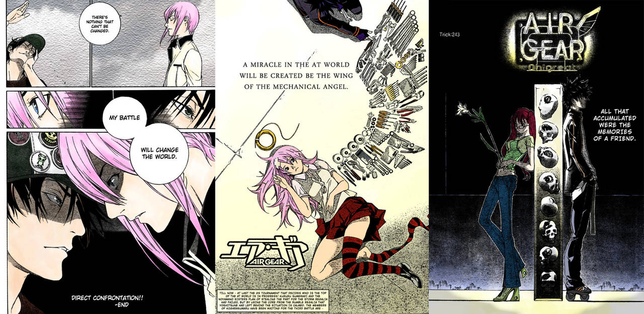 3 x Air Gear Color Pages by LutherOMight ...