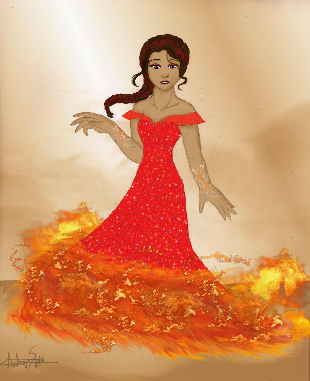 Katniss Girl On Fire