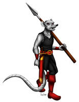 Commission: Ratfink With Spear by ALS123