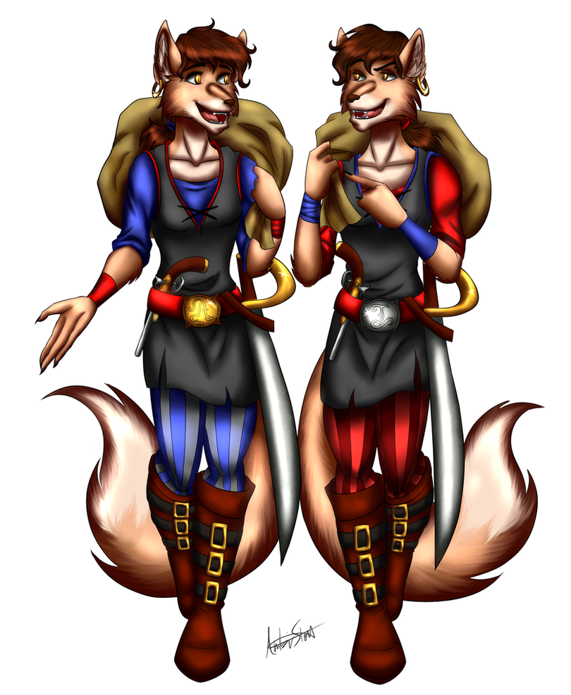 Commission: Ali and Issy by ALS123