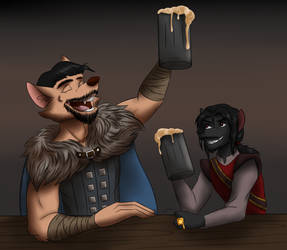 Commission: Drinking Buddies by ALS123