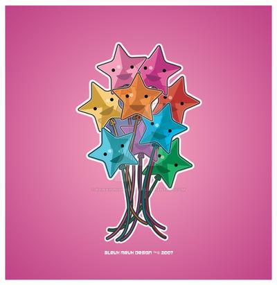 Kawaii Star Balloons by KawaiiUniverseStudio
