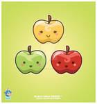 Kawaii Apple Trio