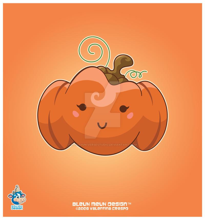Kawaii Fall Pumpkin by KawaiiUniverseStudio