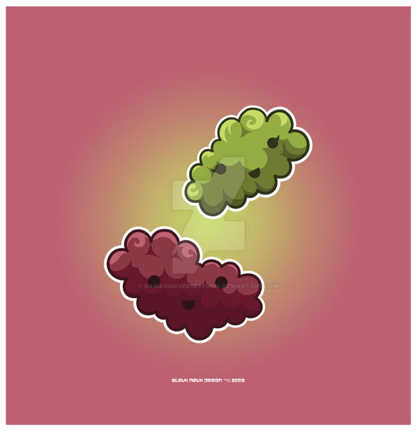 Kawaii Grapes by KawaiiUniverseStudio
