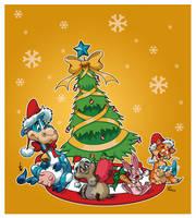 Jim and Val Holiday Art Collab by KawaiiUniverseStudio