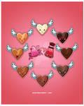 Kawaii Chocolate Hearts
