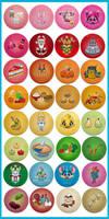 Kawaii Color Button Bonanza