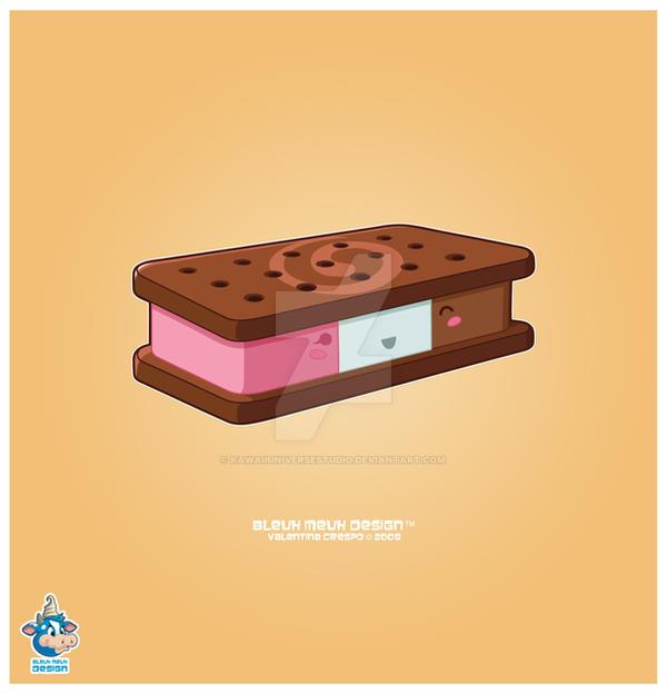 Ice Cream Sandwich Wallpaper: Kawaii Neapolitan Icecream Bar By KawaiiUniverseStudio On