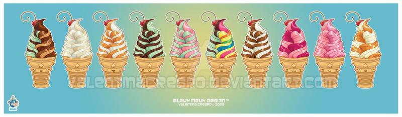 Kawaii Ice Cream Series prt 5 by KawaiiUniverseStudio