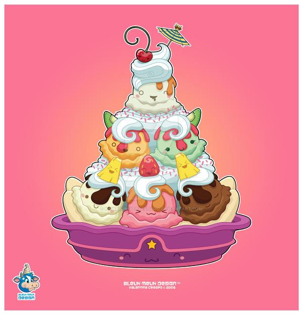 Popular Ice Cream Wallpaper Buy Cheap Ice Cream Wallpaper: Kawaii Ice Cream Sundae 60k By KawaiiUniverseStudio On