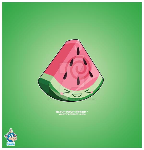 Kawaii Watermelon Slice by KawaiiUniverseStudio